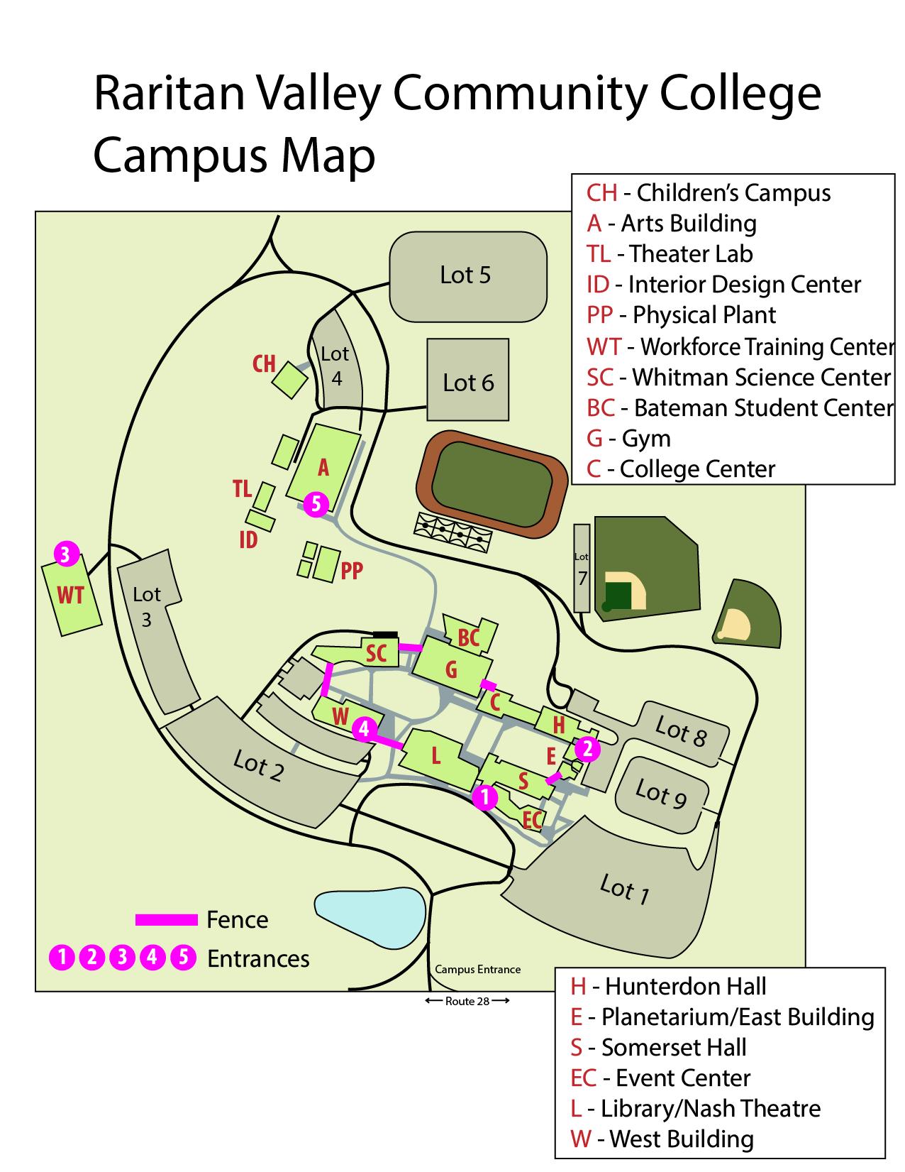 Capus map