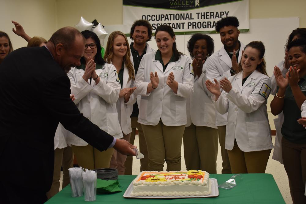 cake cutting at ota lab