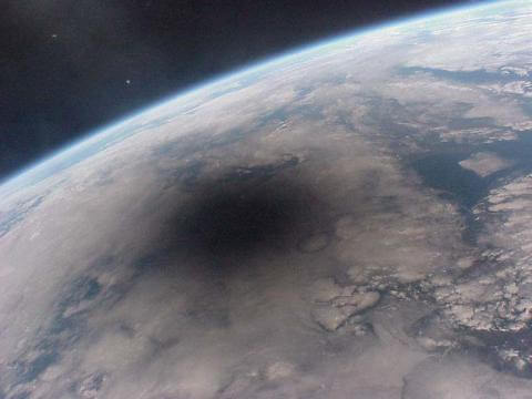 eclipse spot on earth