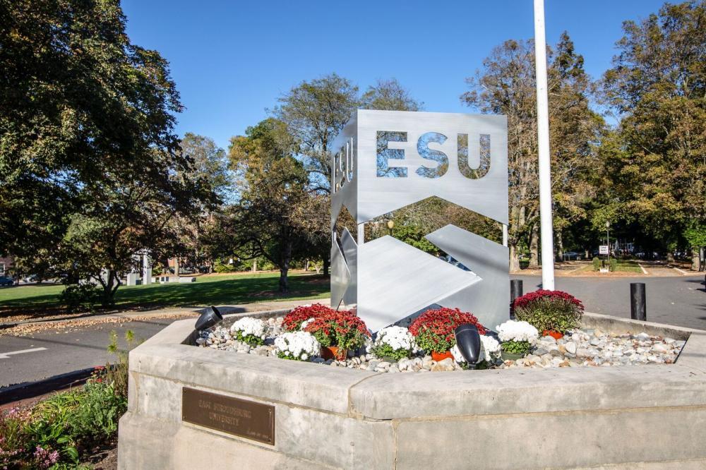 ESU campus sign