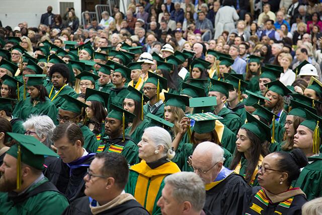 crowd at graduation