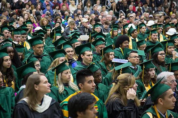 sea of graduates