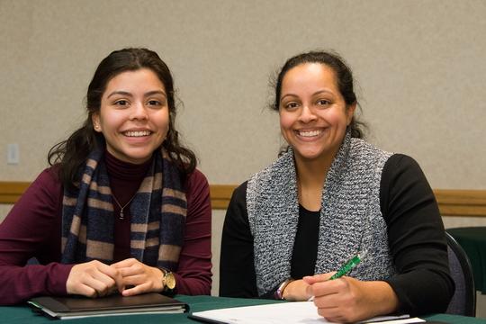 two females in mentorship program