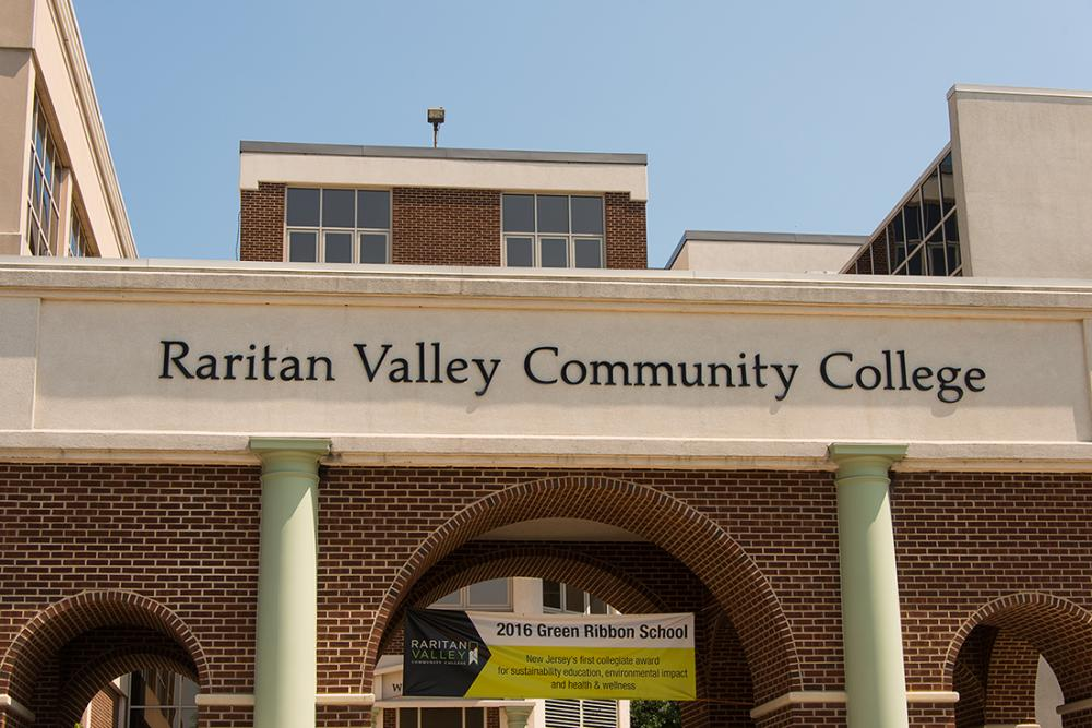 name of college on front building