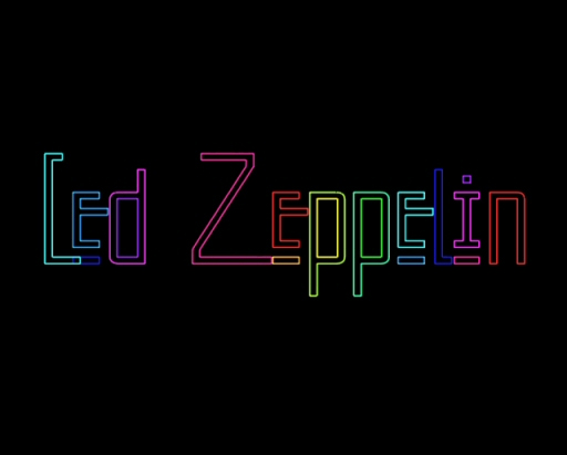 led zeppelin laser image