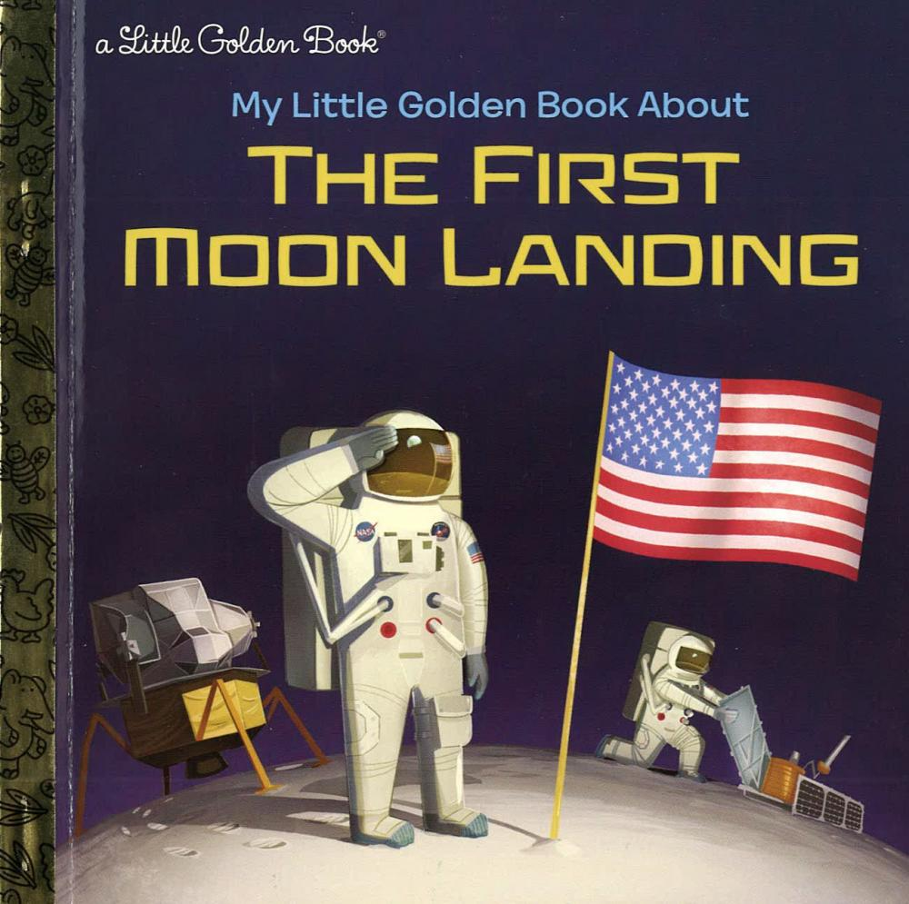 moon landing book jacket