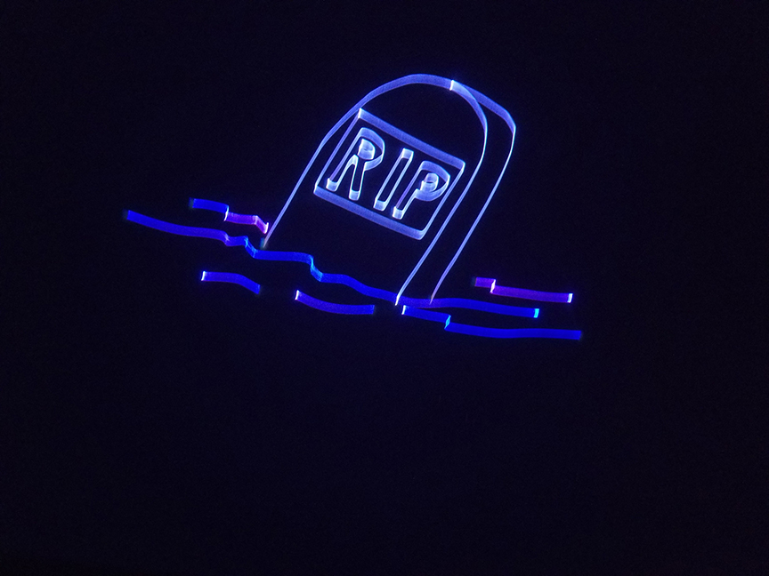 tombstone laser image
