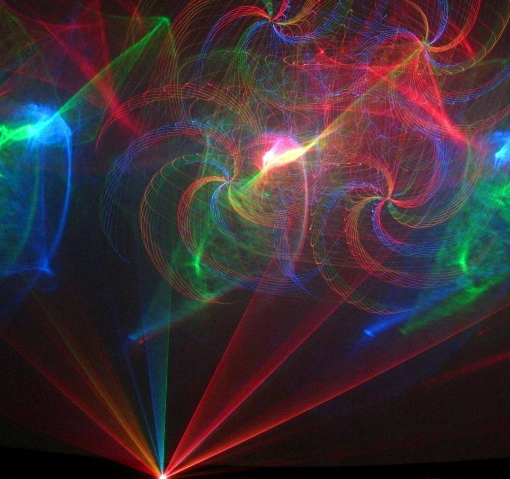 laser image iwth swirls