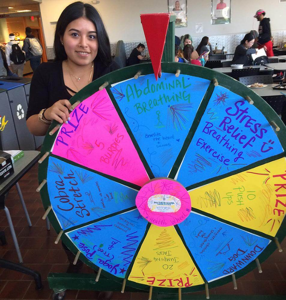 ptk student with prize wheel