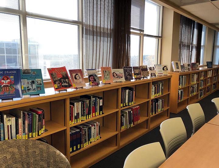 book collection at Hirsch library