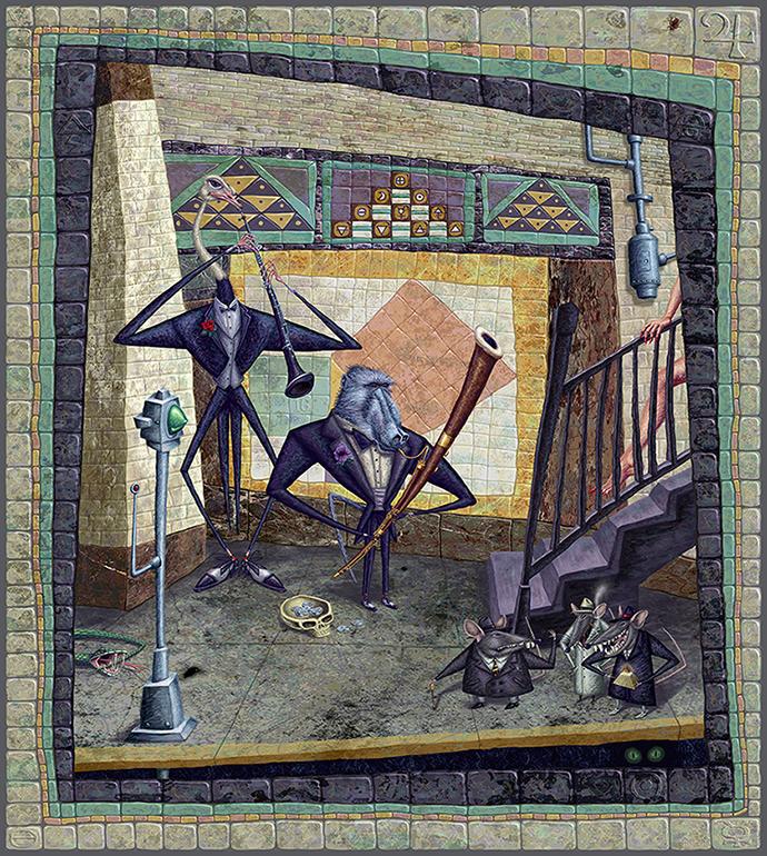 Lambdoma Duo digital painting