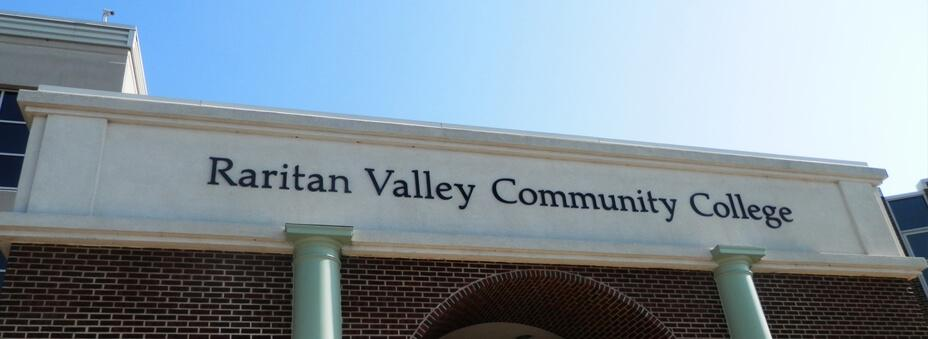 Archway with Raritan Valley Community College sign