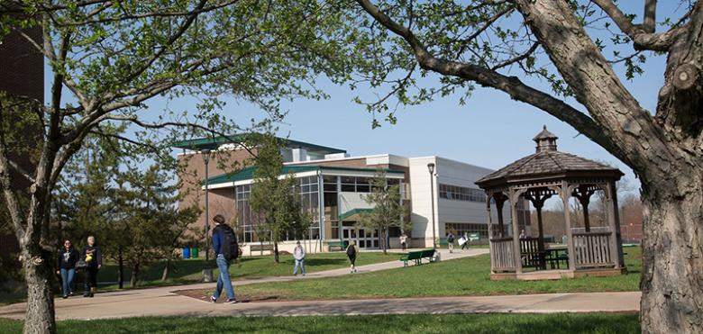 campus outdoor with gazebo