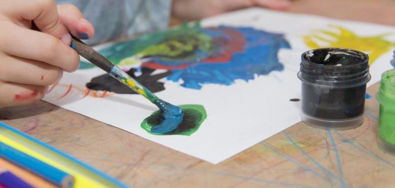 kids tempera painting