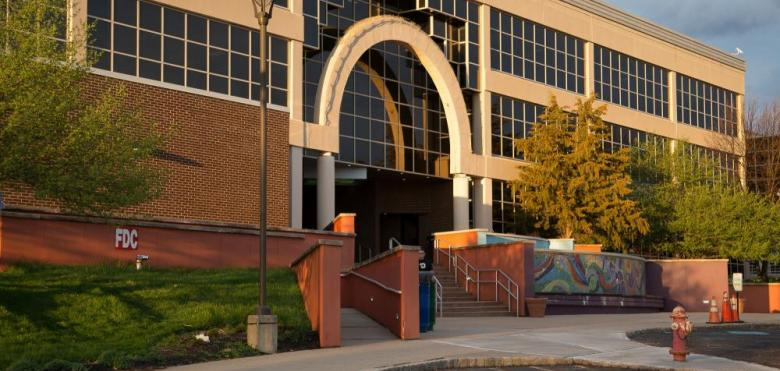Front of RVCC exterior with arches