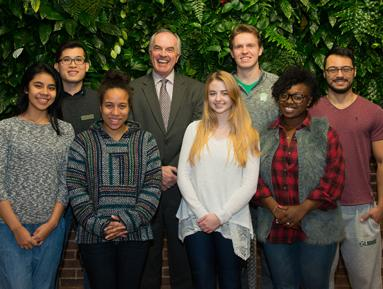 President McDonough & Student Group