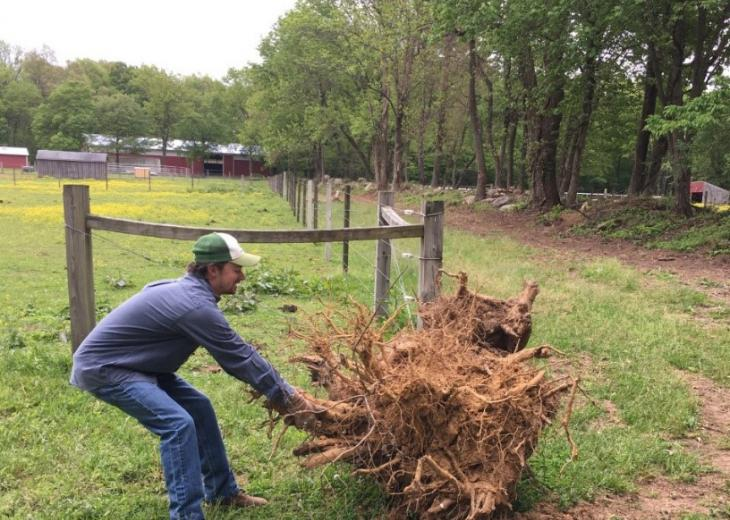 corey briggs doing farm work