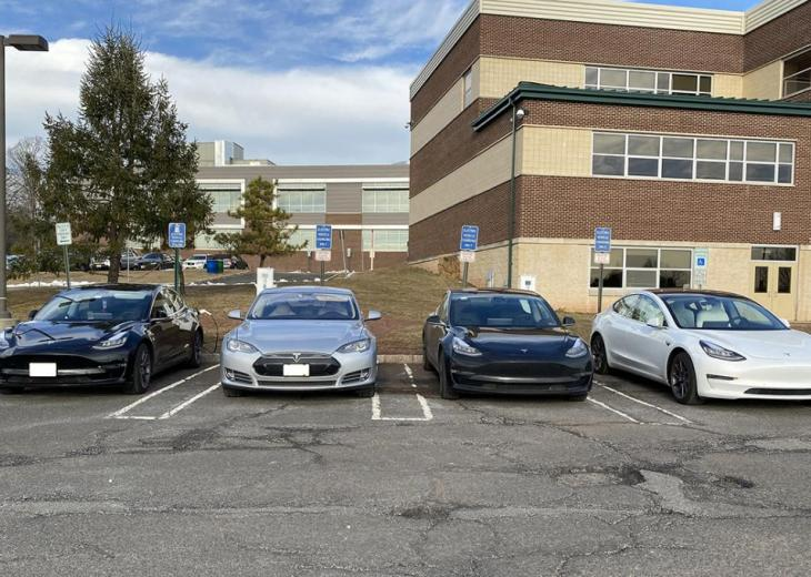 electric cars charging at rvcc
