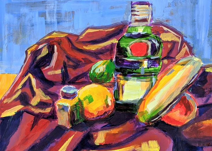 Fauvist painting by emma sodano