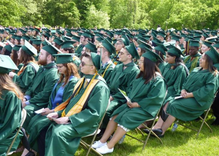section of seated graduates