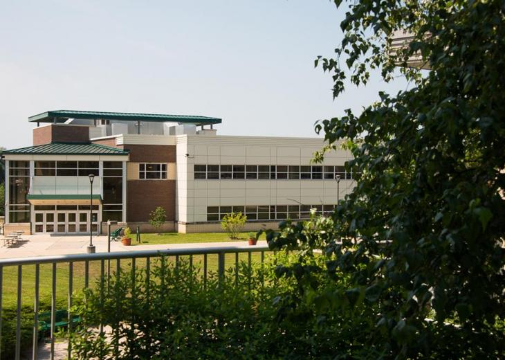 far away view of science building