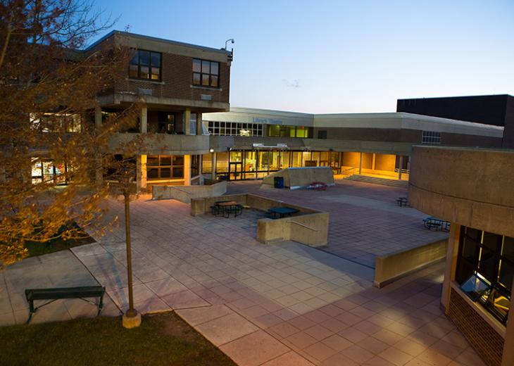 RVCC courtyard at night