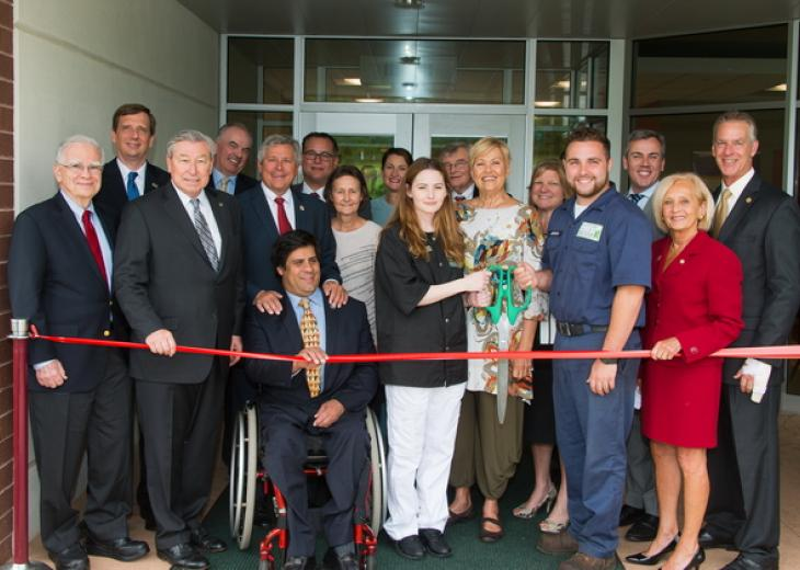 Ribbon-cutting ceremony for RVCC's Workforce Training Center