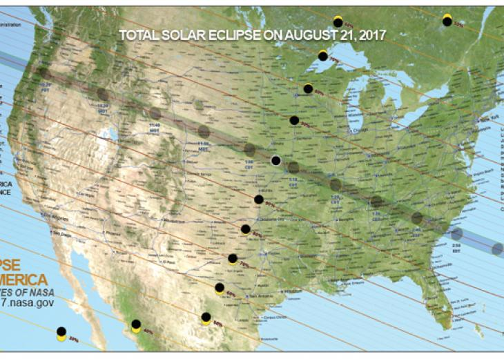 solar eclipse line of totality map