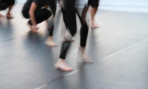 blurred dancer legs