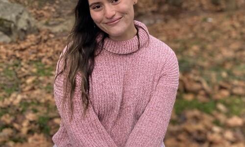 jackie braida in pink top