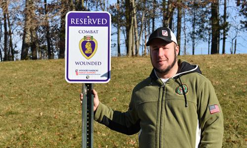 RVCC Designates Parking Spaces for Disabled Veterans