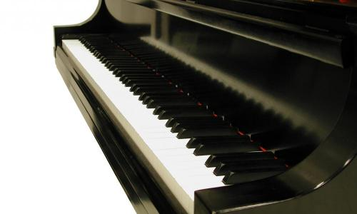 piano with focus on keys