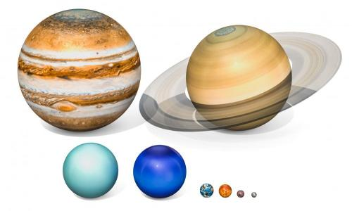 illustration of planets