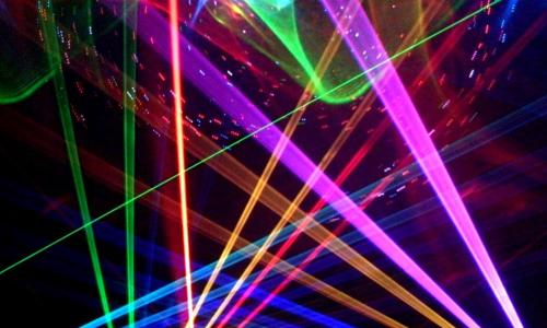 multicolored laser image
