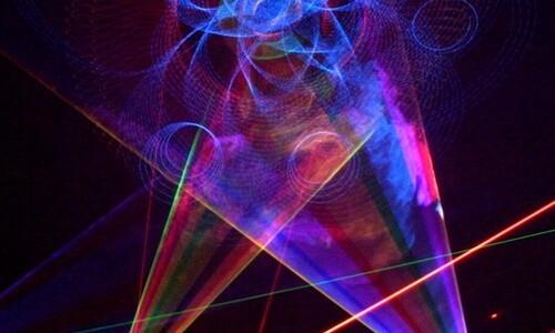 bottom of star laser image