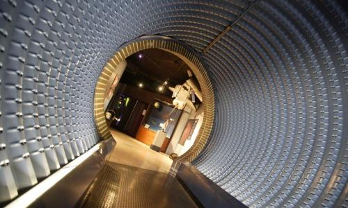 tunnel in planetarium