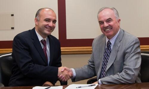 handshake with president mcdonough