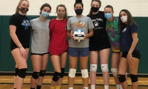 cropped pic of volleyball team wearing masks