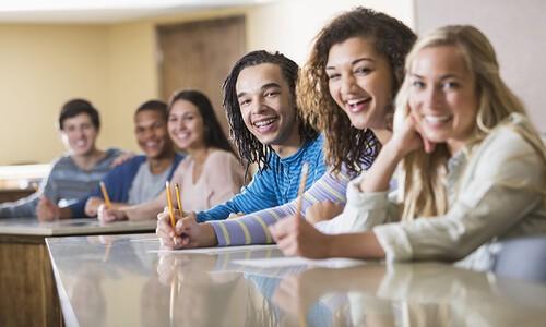 teens in class