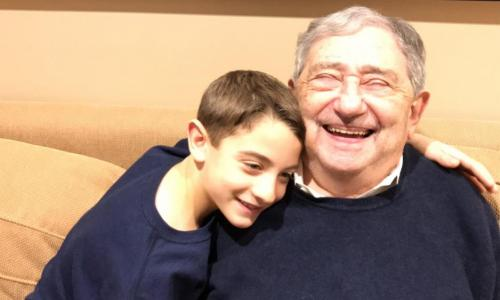 young boy and his great-grandfather