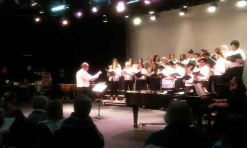 john sichel conducts rvcc chorale in concert