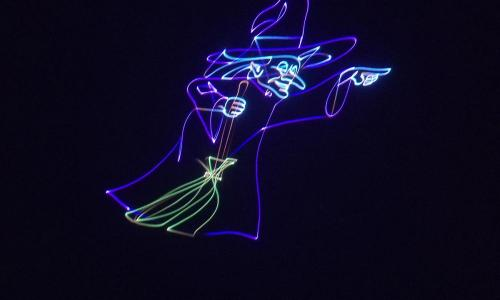 laser image of witch